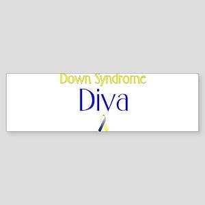 Down Syndrome Diva Bumper Sticker