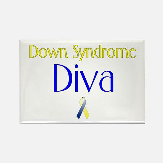 Down Syndrome Diva Rectangle Magnet (100 pack)