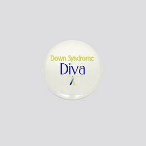 Down Syndrome Diva Mini Button
