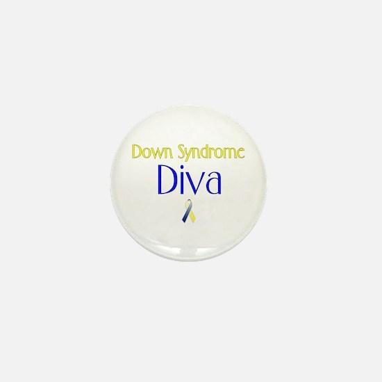 Down Syndrome Diva Mini Button