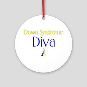 Down Syndrome Diva Ornament (Round)