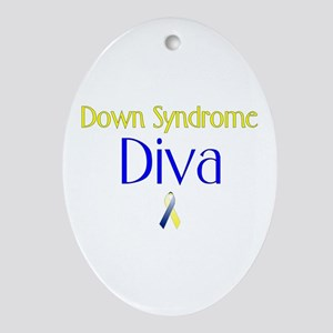 Down Syndrome Diva Oval Ornament