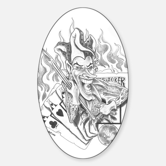 Jokers Wild Tattoo Oval Decal