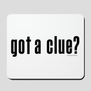 got a clue? Mousepad
