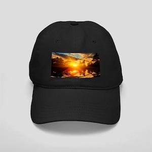 Sunset over Lake Baseball Hat