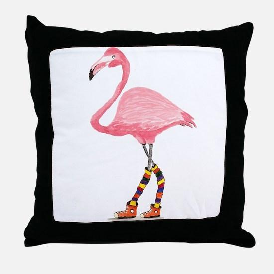 Styling Flamingo Throw Pillow