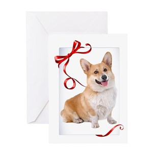 corgi christmas greeting cards cafepress - Christmas Corgi