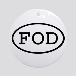 FOD Oval Ornament (Round)
