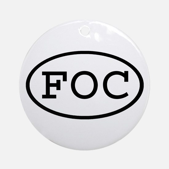 FOC Oval Ornament (Round)
