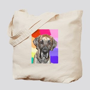 Great Dane Jamie rainbow Tote Bag