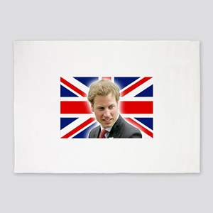 HRH Prince William Stunning! 5'x7'Area Rug