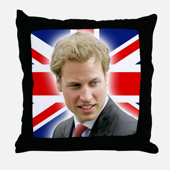 HRH Prince William Stunning! Throw Pillow