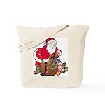 Christmas Art Santa and Toys Tote Bag