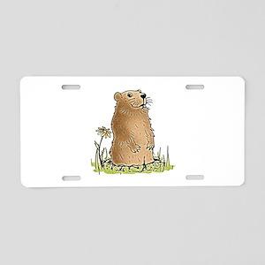 Cute Groundhog Aluminum License Plate