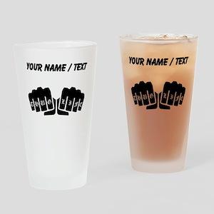 Thug Life Knuckle Tattoo (Custom) Drinking Glass
