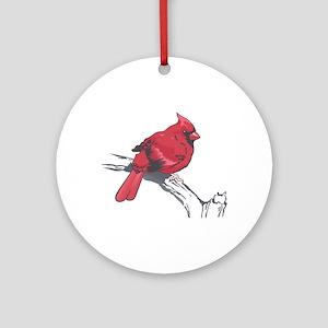 MALE CARDINAL Ornament (Round)