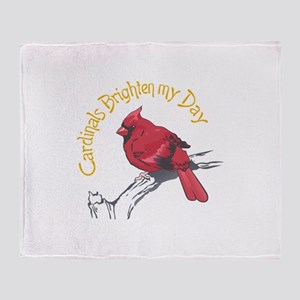 CARDINALS BRIGHTEN MY DAY Throw Blanket