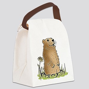 Cute Groundhog Canvas Lunch Bag