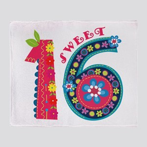 Blooming Sweet 16 Throw Blanket