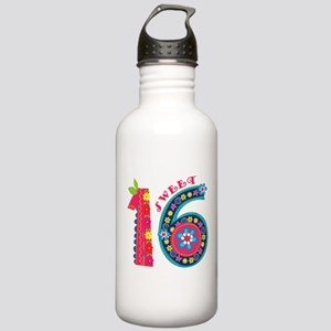 Blooming Sweet 16 Stainless Water Bottle 1.0L