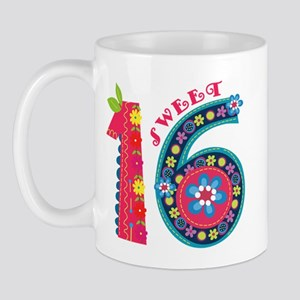 Blooming Sweet 16 Mug