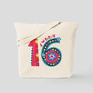 Blooming Sweet 16 Tote Bag