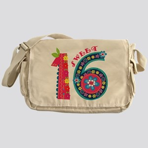 Blooming Sweet 16 Messenger Bag