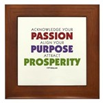 Passion Purpose Prosperity Framed Tile