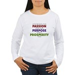 Passion Purpose Prospe Women's Long Sleeve T-Shirt
