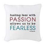 Fearless Passion Woven Throw Pillow