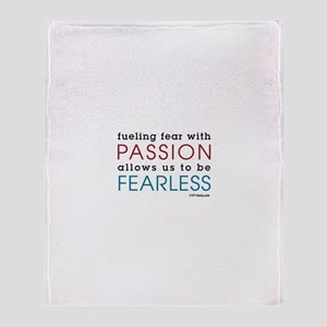 Fearless Passion Throw Blanket