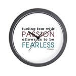 Fearless Passion Wall Clock