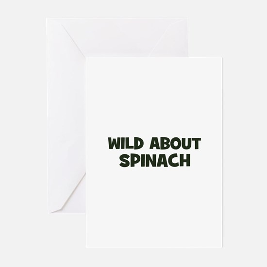 wild about spinach Greeting Cards (Pk of 10)