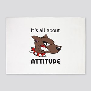 Its All About Attitude 5'x7'Area Rug