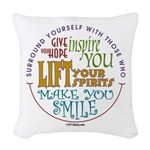 Surround Yourself Woven Throw Pillow