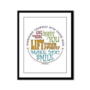 Surround Yourself Framed Panel Print