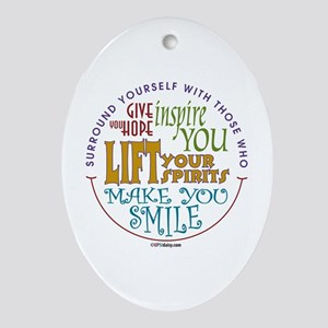 Surround Yourself Ornament (Oval)