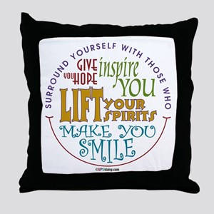 Surround Yourself Throw Pillow