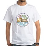 Surround Yourself White T-Shirt