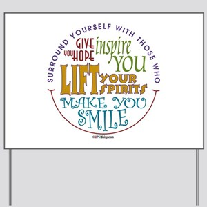 Inspirational yard signs cafepress surround yourself yard sign solutioingenieria Choice Image