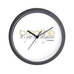 Obligation to Breathe Wall Clock