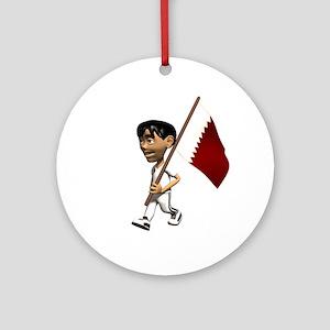 Qatar Boy Ornament (Round)