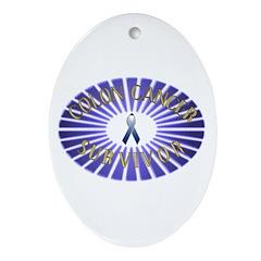 COLON CANCER SURVIVOR Oval Ornament