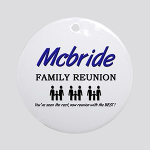 Mcbride Family Reunion Ornament (Round)