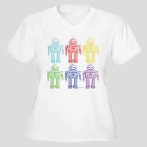 Robots Women's Plus Size V-Neck T-Shirt