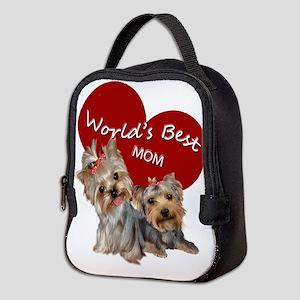 Yorkie World's Best Mom Neoprene Lunch Bag