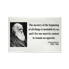 Charles Darwin 7 Rectangle Magnet (100 pack)