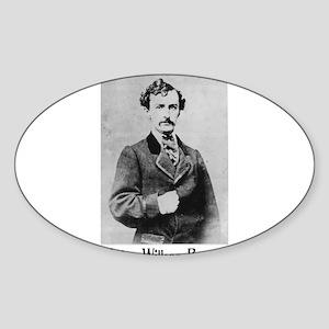 John Wilkes Booth Oval Sticker