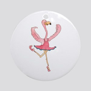 Ballerina Flamingo Ornament (Round)