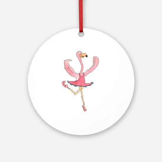 Ballerina Flamingo Ornament (Round)